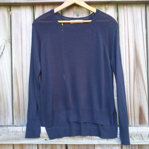 Zara Lightweight Blue Knit Long Sleeved Sweater